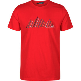 Regatta Breezed Camiseta Hombre, chinese red